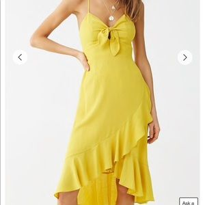 Yellow criss cross back dress